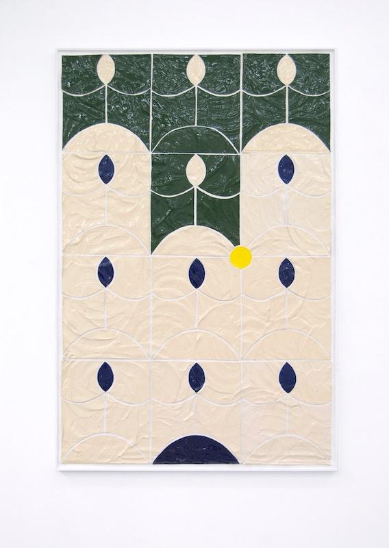 Maximilien Pellet, La Nouvelle Fondation. Faience sur bois, 200x140 cm