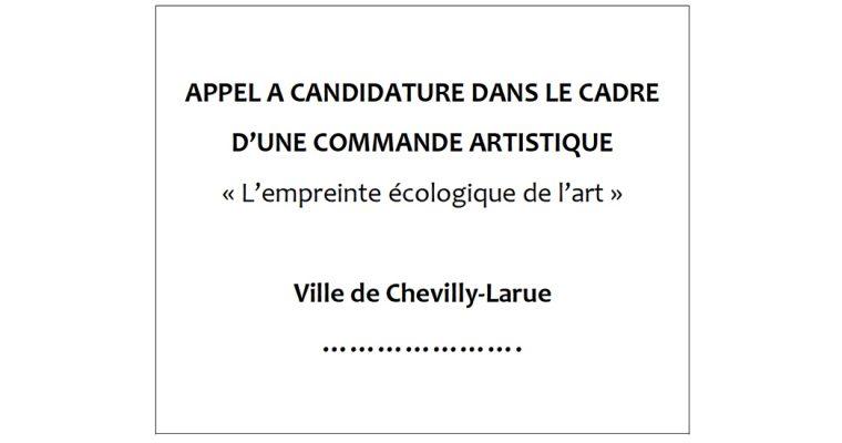 Appel à candidature – commande artistique ville de Chevilly-Larue
