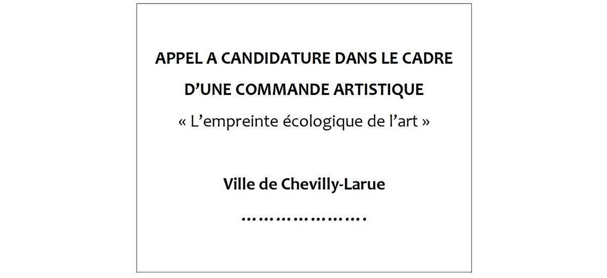 ▷31.03 – Appel à candidature – commande artistique ville de Chevilly-Larue