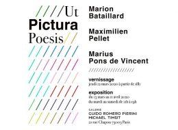 Ut Pictura – 12/03 au 11/04 – Galerie Guido Romero Pierini, Paris