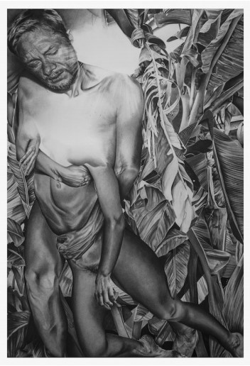 Anaïs Prouzet, Dis moi où, je préfère t'attendre - 2019 Fusain sur papier - 143,5 cm x 99,5 cm