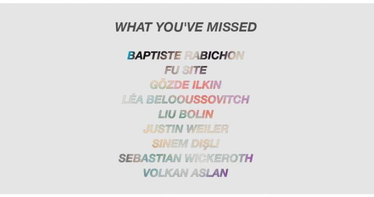 What you've missed … – 26/05 au 18/07 – Galerie Paris-Beijing Paris