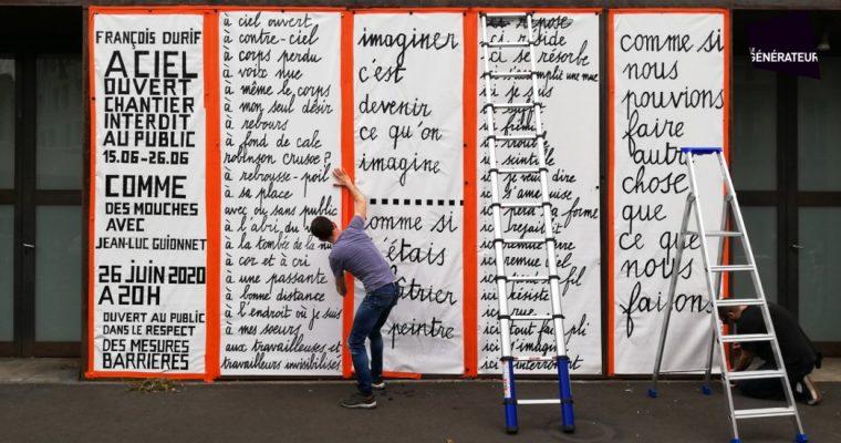 François Durif – À ciel ouvert – chantier performance – Le Générateur, Gentilly