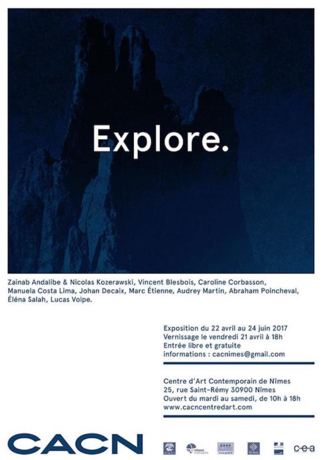 [EXPO] 21.04→24.06 – EXPLORE – EXPOSITION INAUGURALE DU CENTRE D'ART CONTEMPORAIN DE NÎMES