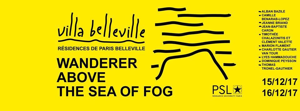 [EXPOSITION] 15 & 16/12 – Wanderer above the sea of fog – Villa Belleville – Paris