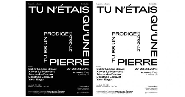 27▷29/04 – TU N'ÉTAIS QU'UNE PIERRE, TU ES UN PRODIGE ! – FELDMAN STUDIO PARIS