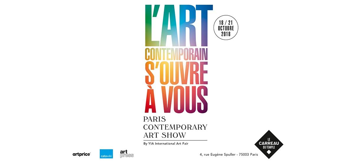 18▷21/10 – P/CAS – PARIS CONTEMPORARY ART SHOW – CARREAU DU TEMPLE PARIS