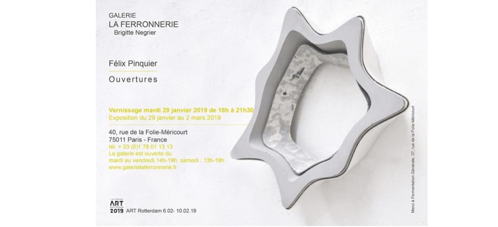 29/01 AU 02/03 – FÉLIX PINQUIER – OUVERTURES – GALERIE LA FERRONNERIE PARIS