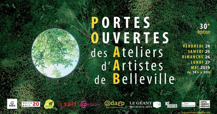 PORTES OUVERTES DES ATELIERS D'ARTISTES DE BELLEVILLE – DU 24 AU 27/05 – PARIS