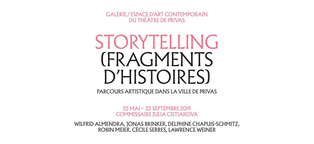STORYTELLING (FRAGMENTS D'HISTOIRES) - 25/05 au 22/09 - Théâtre de Privas