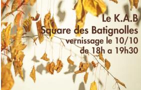 Jérôme Pierre « Les Feuilles de l'être » – 10 au 27/10 – LE K.A.B
