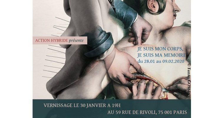 Action Hybride – Je suis mon corps / je suis ma mémoire – 28/01 au 09/02 – 59 Rivoli Paris