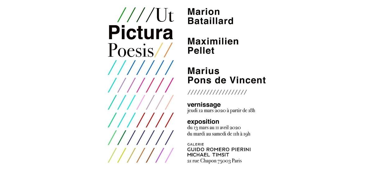 exposition Ut Pictura Poesis – Galerie Guido Romero Pierini, Paris