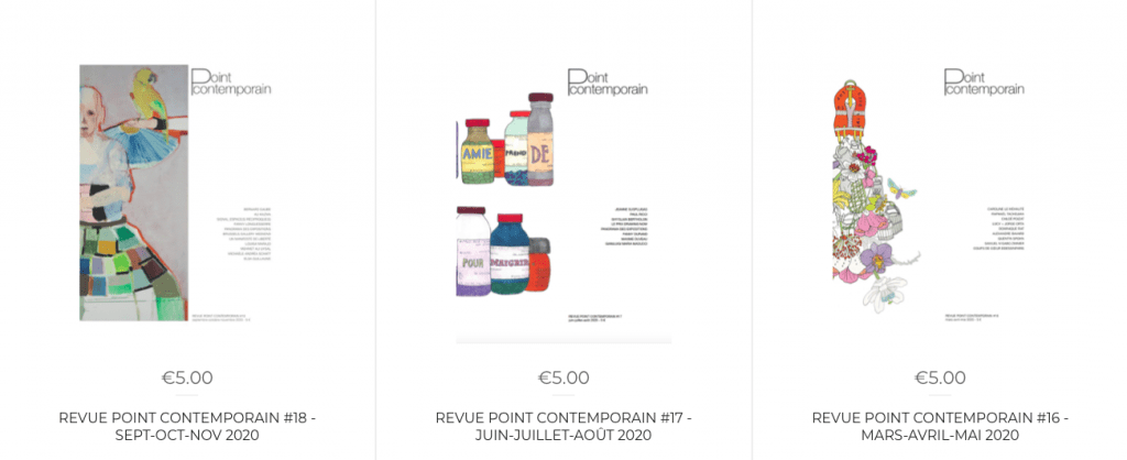 revue point contemporain #16 - MARS-AVRIL-MAI 2020